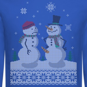 UGLY HOLIDAY SWEATER HAPPY SNOWMAN CARROT THIEF Lo - Crewneck Sweatshirt