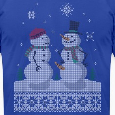 UGLY HOLIDAY SWEATER HAPPY SNOWMAN CARROT THIEF T-Shirts