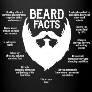 Beard Facts (white) Mugs & Drinkware - Full Color Mug