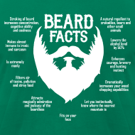 Design ~ Beard Facts (white)