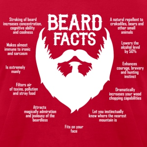 Beard Facts (white) T-Shirts - Men's T-Shirt by American Apparel