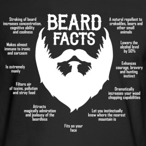 Beard Facts (white) Long Sleeve Shirts - Men's Long Sleeve T-Shirt