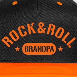 Rock And Roll Grandpa Caps - Snap-back Baseball Cap