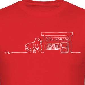 Grizzly Bears Near Pulaski's Candy Store T-Shirt - Men's T-Shirt