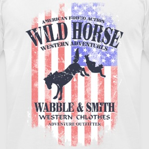 Wild Horse Rodeo - USA vintage flag T-Shirts - Men's T-Shirt by American Apparel