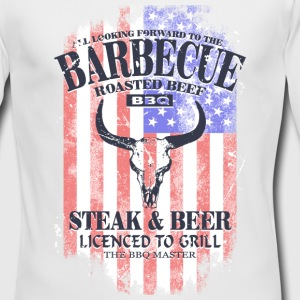 American BBQ - USA vintage flag Long Sleeve Shirts - Men's Long Sleeve T-Shirt by Next Level