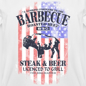 American BBQ - USA vintage flag T-Shirts - Men's Tall T-Shirt