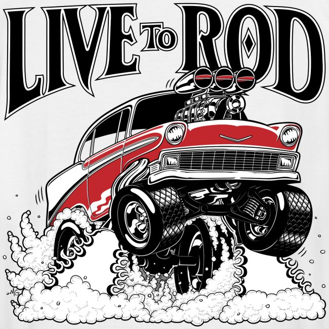LiveTo Rod 56 Gasser Mens T-shirt | Men's Tall T-Shirt