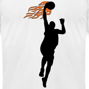 Basketball on fire T-Shirts - Men's T-Shirt by American Apparel