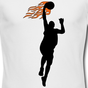 Basketball on fire Long Sleeve Shirts - Men's Long Sleeve T-Shirt by Next Level