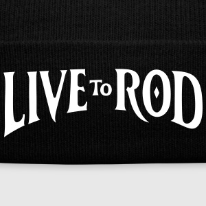 LIVE TO ROD Logo Knit Beanie 1 - Knit Cap with Cuff Print