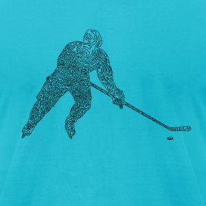 Hockey T-Shirts - Men's T-Shirt by American Apparel