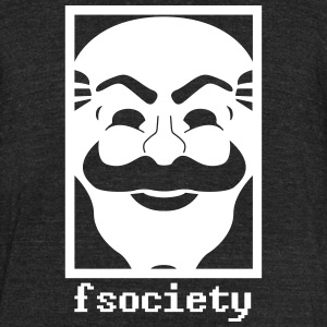 Fsociety mask - Unisex Tri-Blend T-Shirt by American Apparel