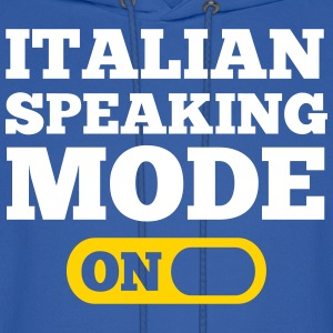 Italian Speaking Mode On Hoodies - Men's Hoodie