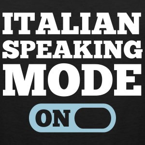 Italian Speaking Mode On Tank Tops - Men's Premium Tank