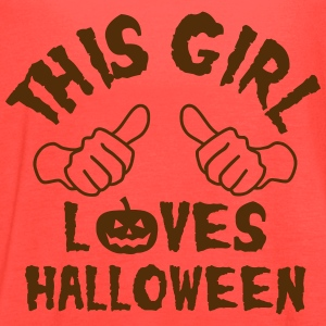 This Girl Loves Halloween Tanks - Women's Flowy Tank Top by Bella