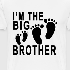 big_brother_baby_footprints_tshirt - Men's Premium T-Shirt