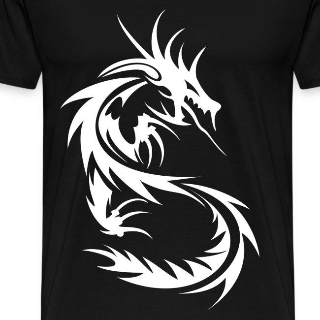 e822a637 YellowYT | A BEAST White on Black Tribal Dragon T-shirt! - Mens ...