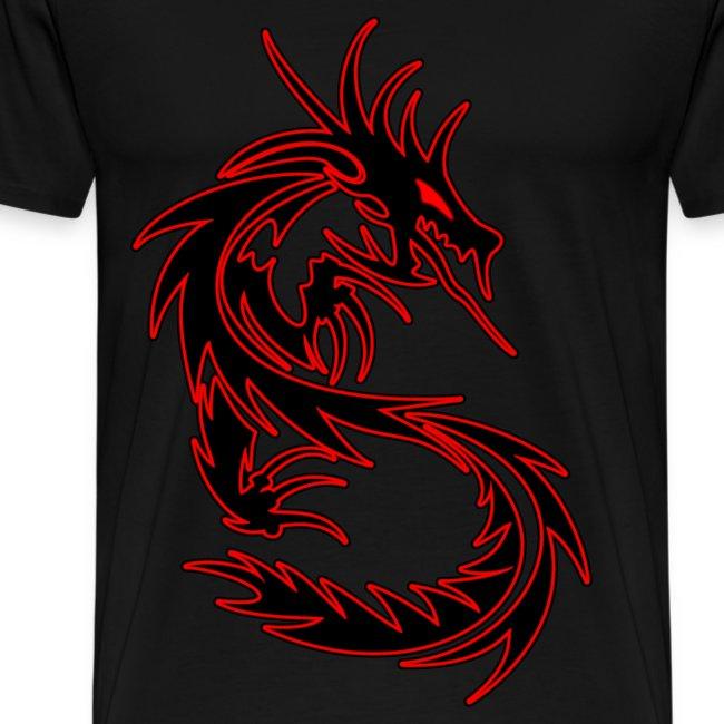 ede949b7 YellowYT | The legendary Red on Black Tribal Dragon T-shirt! - Mens ...