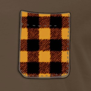 Yellow Buffalo Plaid Fake Pocket T - Men's Premium T-Shirt