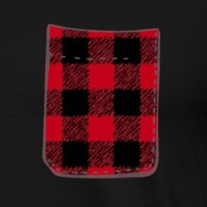 Red Buffalo Plaid Fake Pocket T - Men's Premium T-Shirt