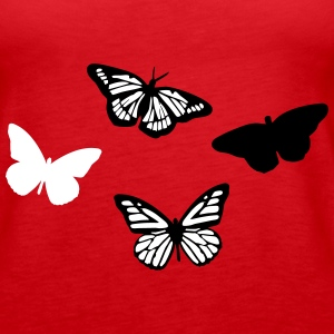 Butterflies, Butterfly Tanks - Women's Premium Tank Top