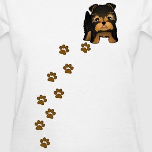 Yorkshire Terrier Puppy Dog Womens T-Shirt - Women's T-Shirt