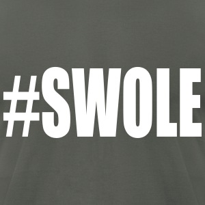 Swole Weight Lifting T-Shirts - Men's T-Shirt by American Apparel