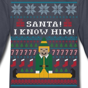 Elf Christmas Sweater Kids' Shirts - Kids' Long Sleeve T-Shirt