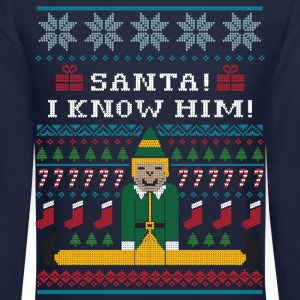 Elf Christmas Sweater Long Sleeve Shirts - Crewneck Sweatshirt