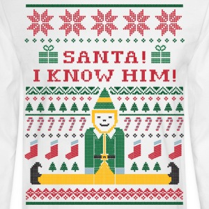 Elf Christmas Sweater Long Sleeve Shirts - Men's Long Sleeve T-Shirt