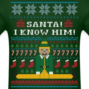 Elf Christmas Sweater T-Shirts - Men's T-Shirt