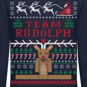Rudolph Ugly Christmas Long Sleeve Shirts - Crewneck Sweatshirt