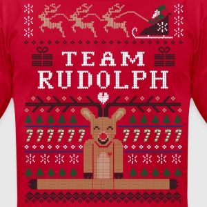 Rudolph Ugly Christmas T-Shirts - Men's T-Shirt by American Apparel