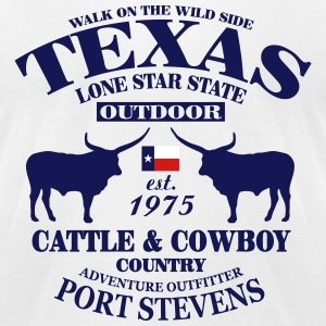 Texas Bull - The Lone Star State T-Shirts - Men's T-Shirt by American Apparel