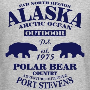 Alaska -  Polar Bear Country Long Sleeve Shirts - Crewneck Sweatshirt