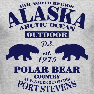 Alaska -  Polar Bear Country Long Sleeve Shirts - Men's Long Sleeve T-Shirt by Next Level
