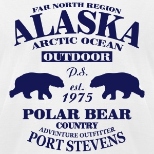 Alaska -  Polar Bear Country T-Shirts - Men's T-Shirt by American Apparel
