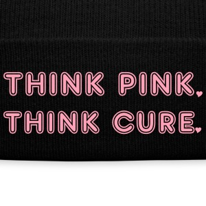 Pink Caps - Knit Cap with Cuff Print