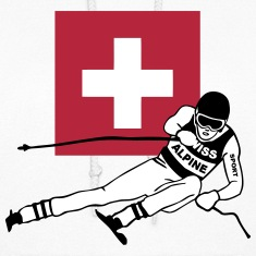 Swiss Ski Alpine  Hoodies