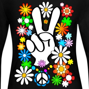 Flowerpower Peace - Women's Long Sleeve Jersey T-Shirt