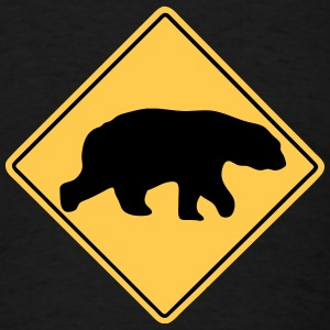 Polar Bear road sign T-Shirts - Men's T-Shirt
