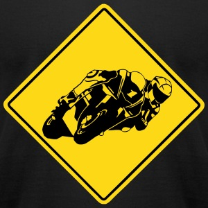 Moto GP road sign T-Shirts - Men's T-Shirt by American Apparel