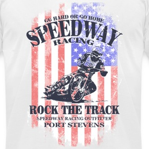 USA Speedway RacingUSA Speedway Racing T-Shirts - Men's T-Shirt by American Apparel