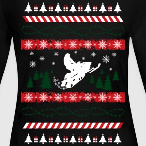 Ugly Christmas Snowmobile Long Sleeve Shirts - Women's Long Sleeve Jersey T-Shirt
