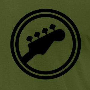 Bass Guitar Logo T-Shirts - Men's T-Shirt by American Apparel