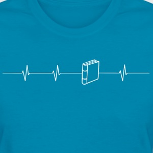 Book Lover Heartbeat Ladies T - Women's T-Shirt