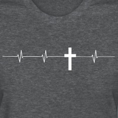 Cross Hearbeat Ladies T