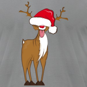 A naughty reindeer  T-Shirts - Men's T-Shirt by American Apparel