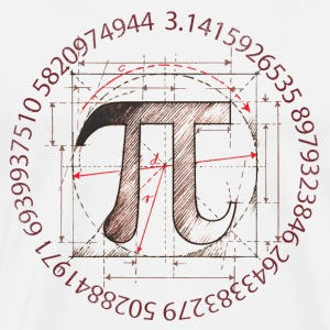 Pi Symbol Drawing - Men's Premium T-Shirt